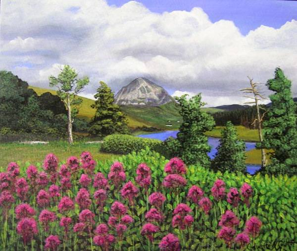 Donegal Painting - Mt Errigal Donegal by Charolette A Coulter
