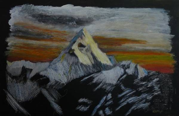 Pastel - Mt Everest by Richard Le Page