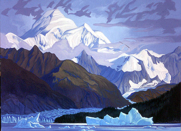 Wall Art - Painting - Mt. Fairweather Yukon by Paul Gauthier