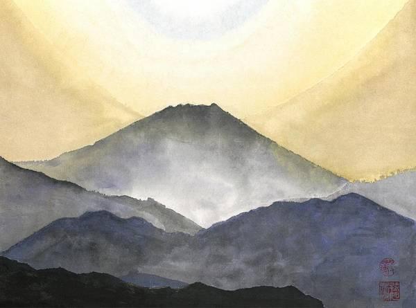 Wall Art - Painting - Mt. Fuji At Sunrise by Terri Harris