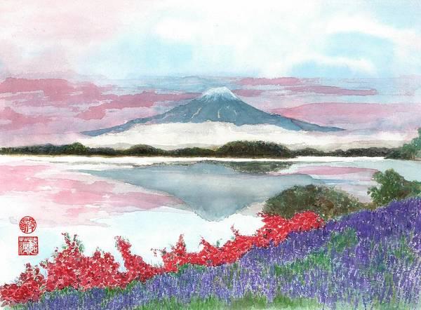 Wall Art - Painting - Mt. Fuji Morning by Terri Harris