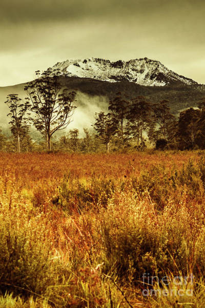 Cloudy Photograph - Mt Gell. Tasmania National Park Of Franklin Gordon by Jorgo Photography - Wall Art Gallery
