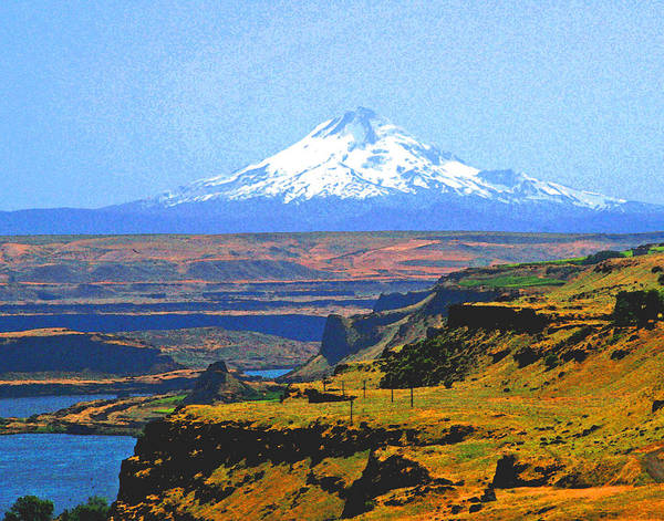 Mt Hood Photograph - Mt. Hood And The Columbia River Gorge by Margaret Hood