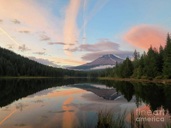Photograph - Mt Hood Evening by Karen Adams