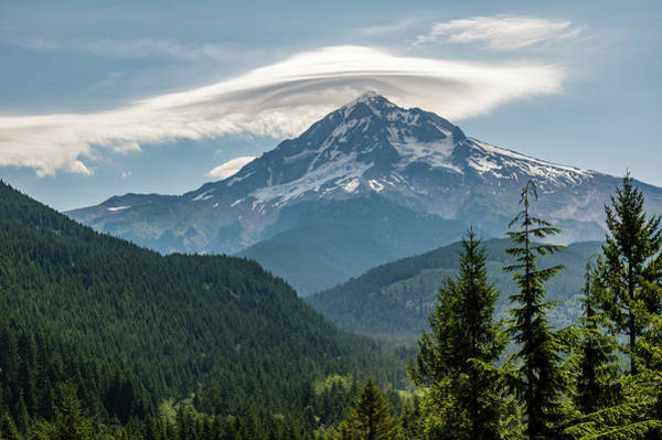 Wall Art - Photograph - Mt Hood With Lenticular Cloud by John Trax
