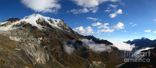 Photograph - Mt Huayna Potosi And Zongo Valley Panorama Bolivia by James Brunker