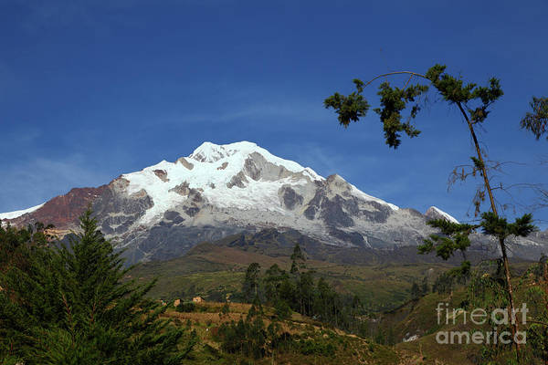 Photograph - Mt Illampu And Countryside Near Sorata Bolivia by James Brunker