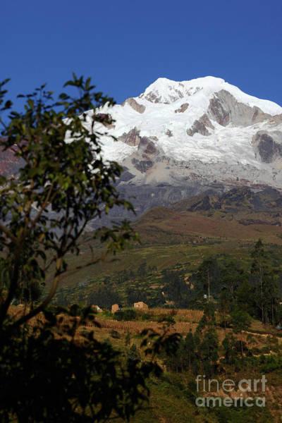 Photograph - Mt Illampu And Farmland Near Sorata Bolivia by James Brunker