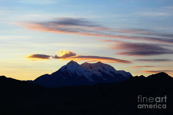 Photograph - Mt Illimani Sunrise Bolivia by James Brunker