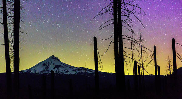Wall Art - Photograph - Mt. Jefferson Bathed In Auroral Light by Cat Connor