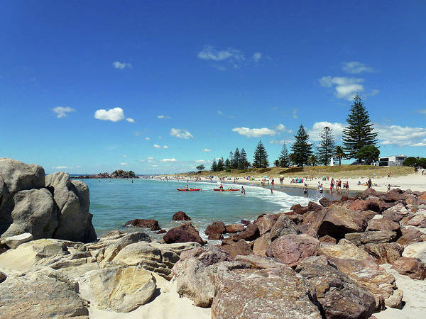 Photograph - Mt Maunganui Beach 3 - Tauranga New Zealand by Selena Boron
