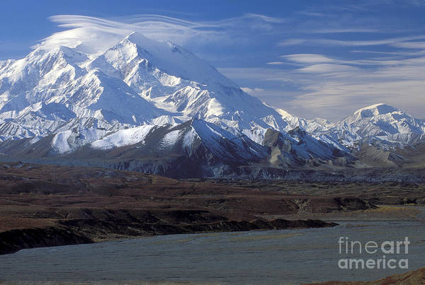 Wall Art - Photograph - Mt. Mckinley And Lenticular Clouds by Sandra Bronstein