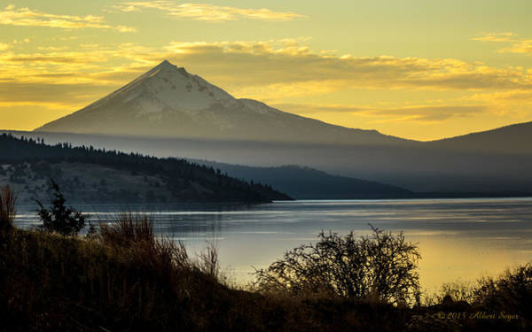 Photograph - Mt Mclaughlin And Upper Klamath Lake by Albert Seger