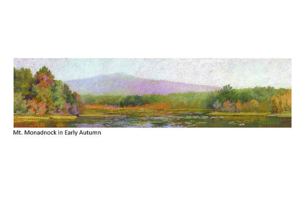 Pastel - Mt. Monadnock In Early Autumn by Betsy Derrick