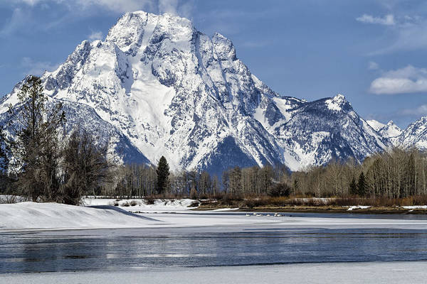 Photograph - Mt Moran From Oxbow Bend by Belinda Greb