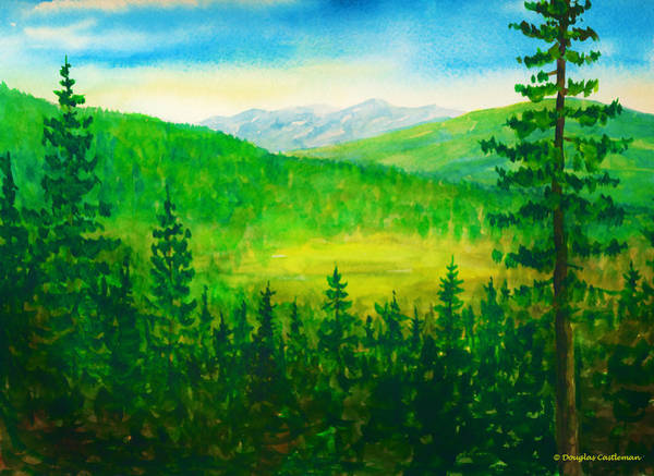 Painting - Mt. Pinos View by Douglas Castleman