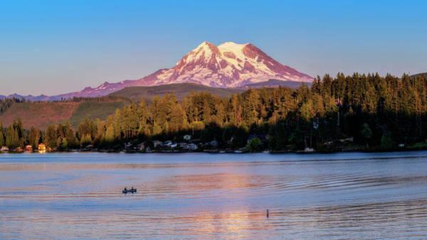 Photograph - Mt Rainier At Sunset by Bill Dodsworth