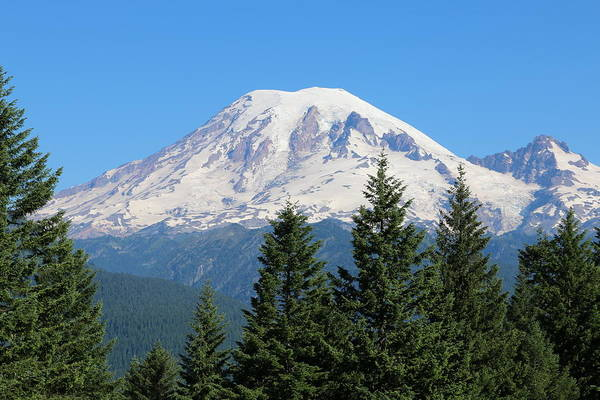 Photograph - Mt. Rainier  by Christy Pooschke