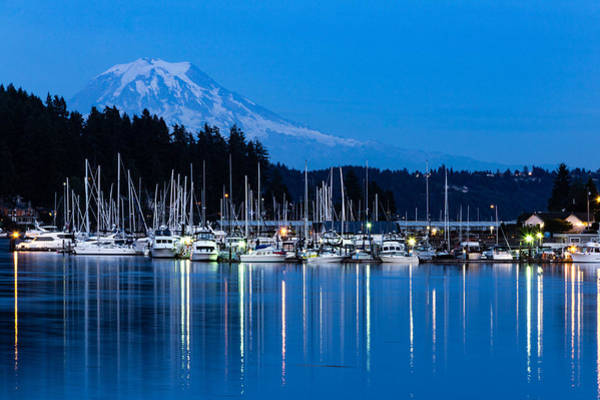 Mt. Rainier From Gig Harbor Art Print