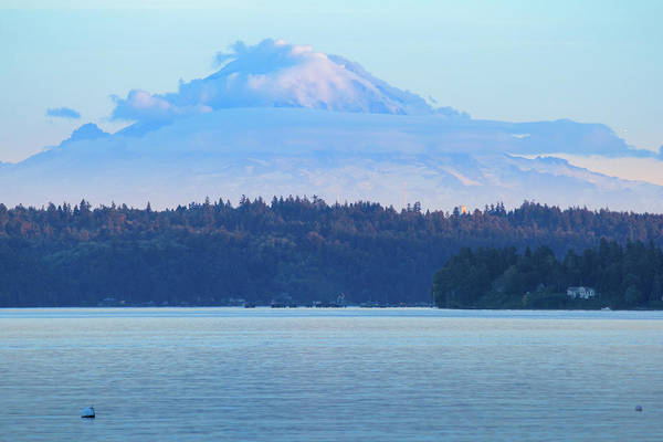 Photograph - Mt. Rainier From Manchester by E Faithe Lester