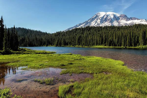 Mt Rainier From Reflection Lake, No. 2 Art Print