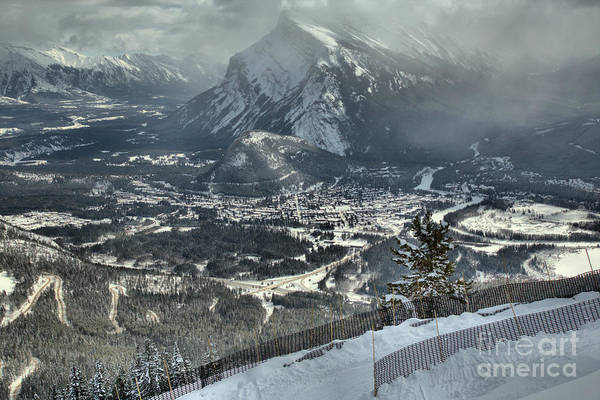 Photograph - Mt Rundle From The Snow Fence by Adam Jewell