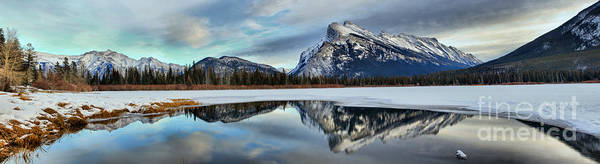 Photograph - Mt Rundle Winter Panorama by Adam Jewell