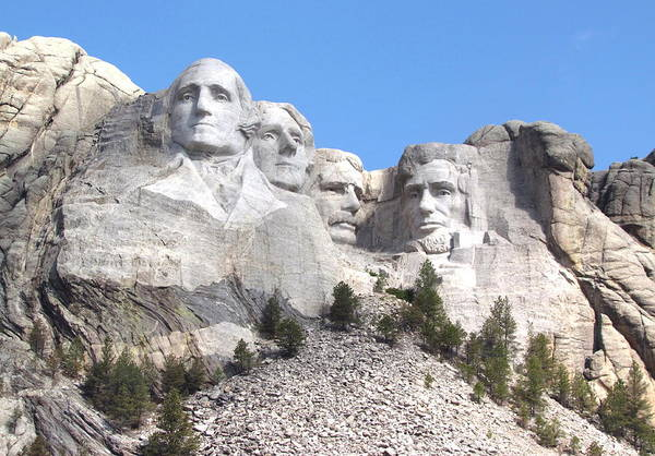 Rushmore Photograph - Mt Rushmore  by Angie Vogel