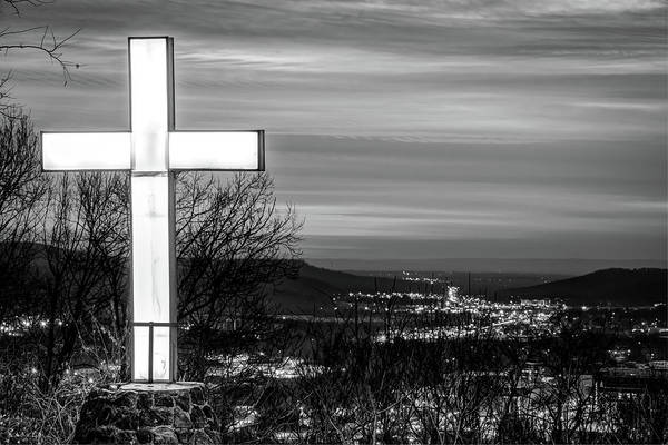 Photograph - Mt Sequoyah - Fayetteville Arkansas - Black And White by Gregory Ballos