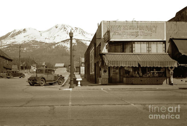 Photograph - Mt. Shasta City, California Circa 1930 by California Views Archives Mr Pat Hathaway Archives