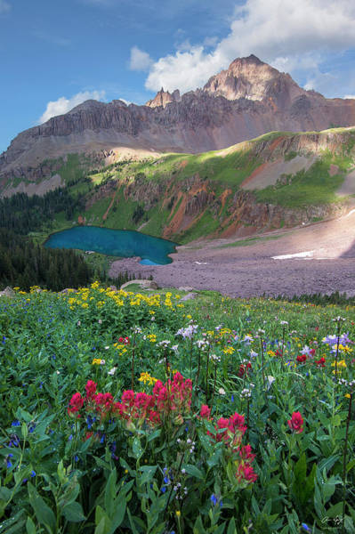Photograph - Mt. Sneffels And Blue Lake by Aaron Spong