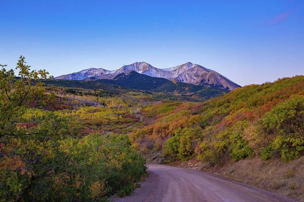 Scrub Photograph - Mt. Sopris At Dawn by Bridget Calip