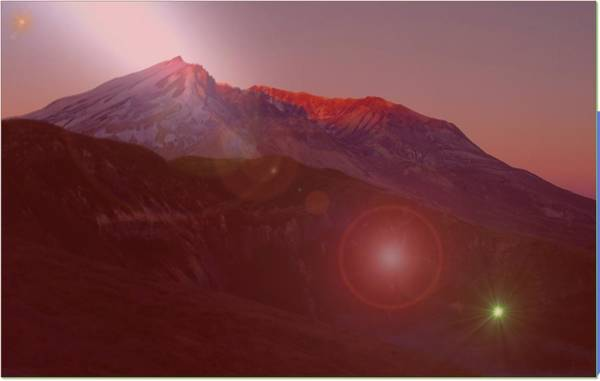 Fire Ring Photograph - Mt St Helens  by Jeff Swan
