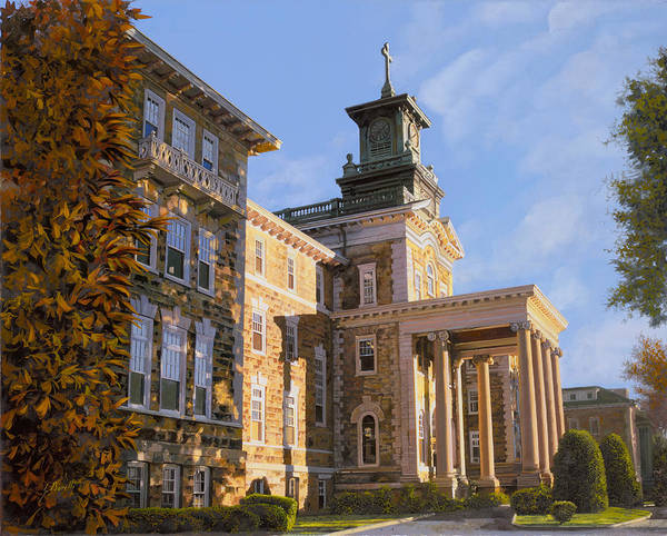 Fine Painting - Mt St.mary Academy by Guido Borelli