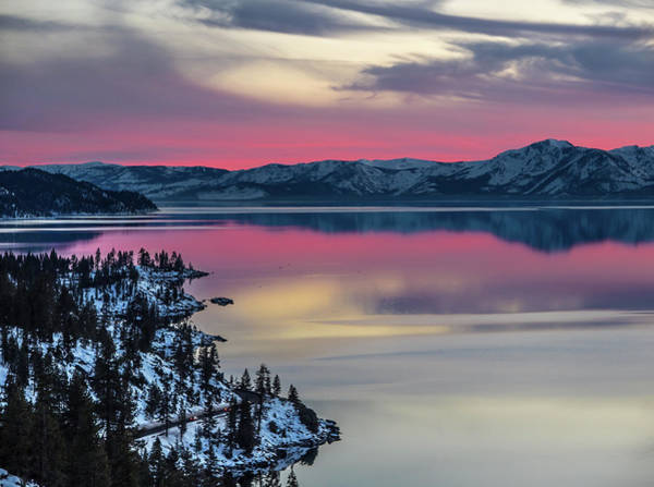 Photograph - Mt. Tallac Sunset by Martin Gollery