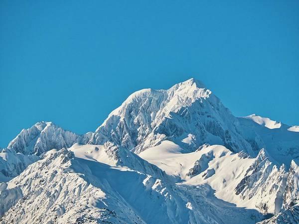 Photograph - Mt Tasman - New Zealand Alps by Steven Ralser