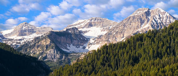 Location Photograph - Mt. Timpanogos In The Wasatch Mountains Of Utah by Douglas Pulsipher