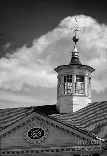 Photograph - Mt Vernon Cupola Black And White by Karen Adams