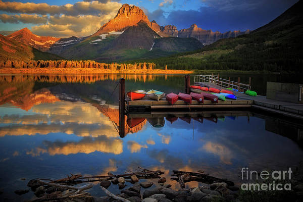 Photograph - Mt. Wilbur And Swiftcurrent Lake Morning by Craig J Satterlee