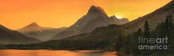 Wall Art - Photograph - Mt Wilbur Sunset Panorama by Adam Jewell