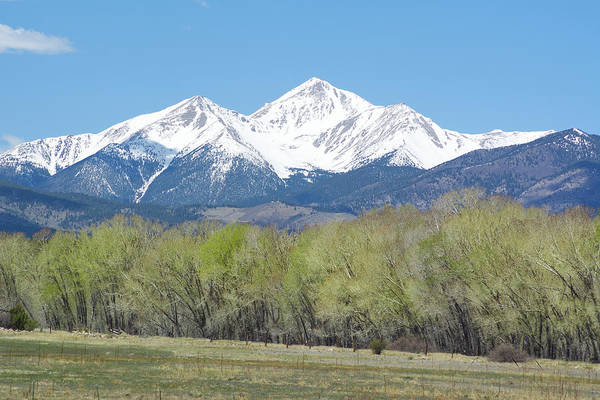 Fourteener Photograph - Mt. Yale - Spring by Aaron Spong