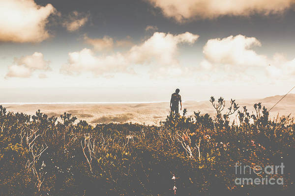 Guy Photograph - Mt Zeehan Backpacker  by Jorgo Photography - Wall Art Gallery