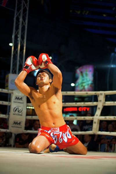 Kickboxing Photograph - Muay Thai Arms Raised Kneeling Wai Khru by Pius Lee