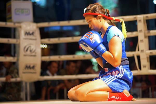 Kickboxing Photograph - Muay Thai Female Alone Wai Khru by Pius Lee