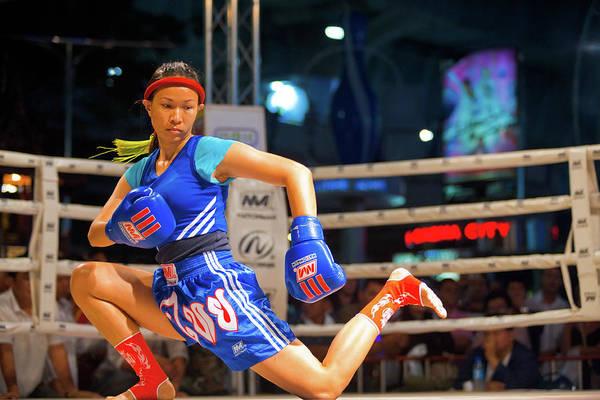 Kickboxing Photograph - Muay Thai Warmup Wai Khru Knee Kicking by Pius Lee