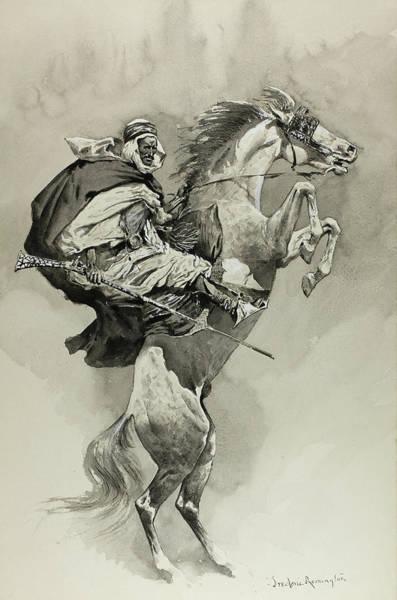 Wall Art - Painting - Mubarek The Arabian Chief by Frederic Remington