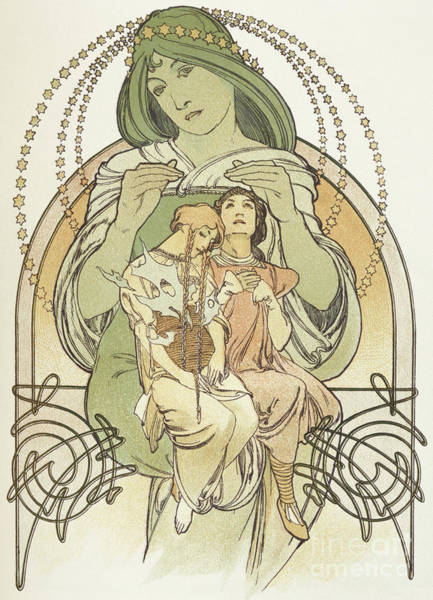 Victorian Era Painting - Mucha Illustration From Ilsee, Princess De Tripoli, 1897 by Alphonse Marie Mucha