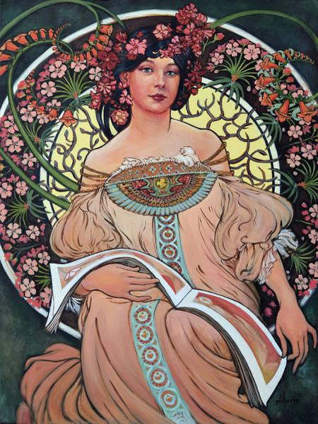 Alphonse Mucha Painting - Mucha Mastercopy by Tom Dauria
