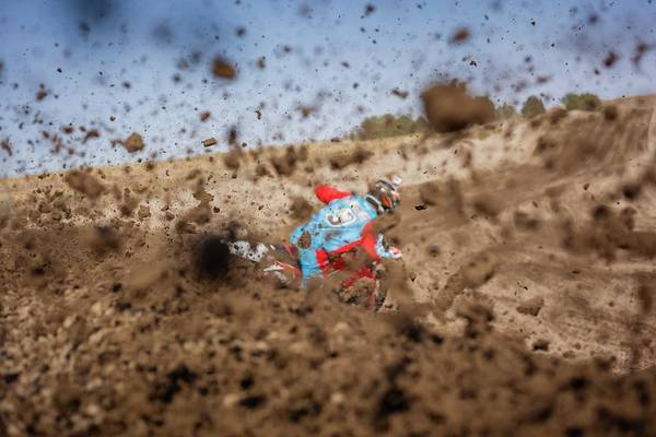 Dirt Bike Photograph - Mud Action by Billy Soden