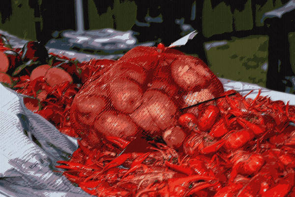 Digital Art - Mud Bugs Sausage Hot Dogs And Taterss by Garland Oldham